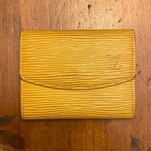 Louis Vuitton Epi Leather Coin Pouch Yelllow